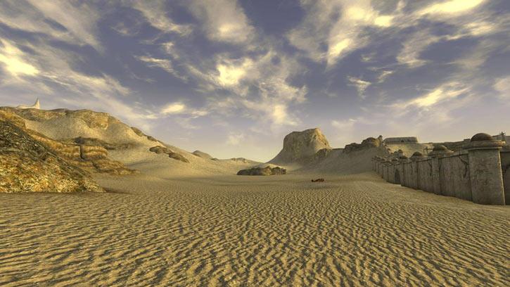 Fallout 1 story mod - desert and a medium city wall
