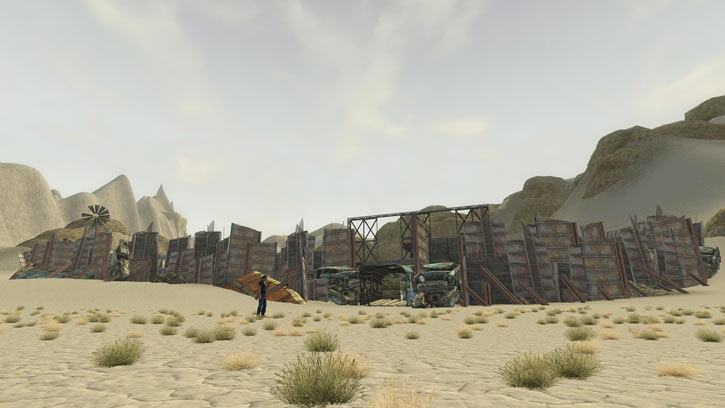 Fallout 1 story mod - entrance of junktown outside view