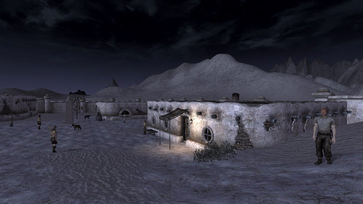 Fallout 1 story mod - shady sands at night