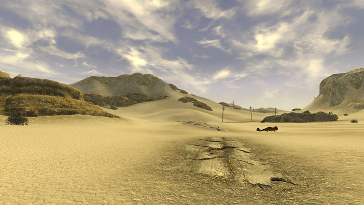 Fallout 1 story mod - desert with giant scorpion