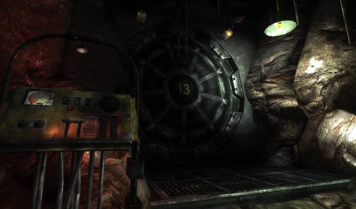Fallout 1 the story - vault 13 door