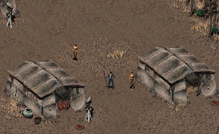 The Arroyo village in Fallout 2