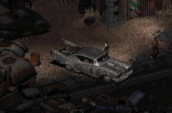 Fallout 2 - The Den - Car - Highwayman