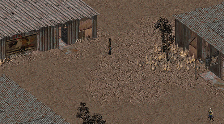 Fallout 2 - The Gecko village's center