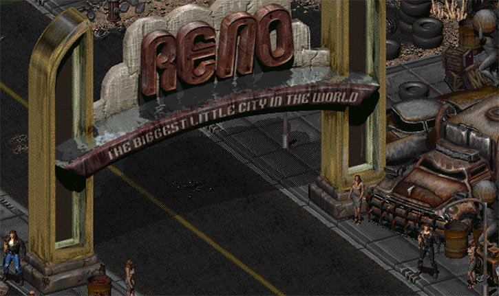Fallout 2 - New Reno - The Reno arch