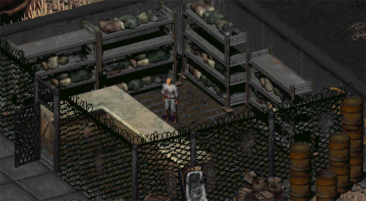 Rocketman drugs dealer at the Renesco in Fallout 2