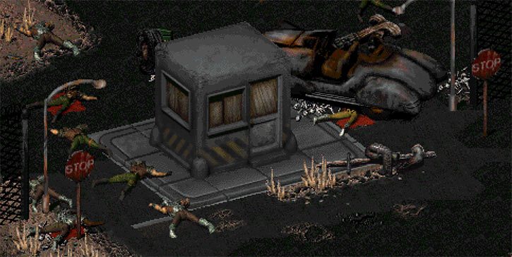 Sierra Army Depot entrance in Fallout 2