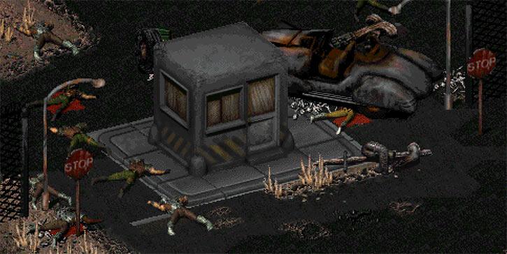 Sierra Army Depot entrance in Fallout 2