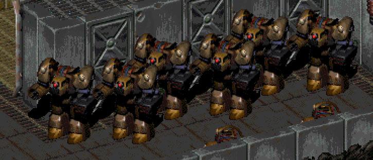 Fallout 2 war robots Sierra Army depot