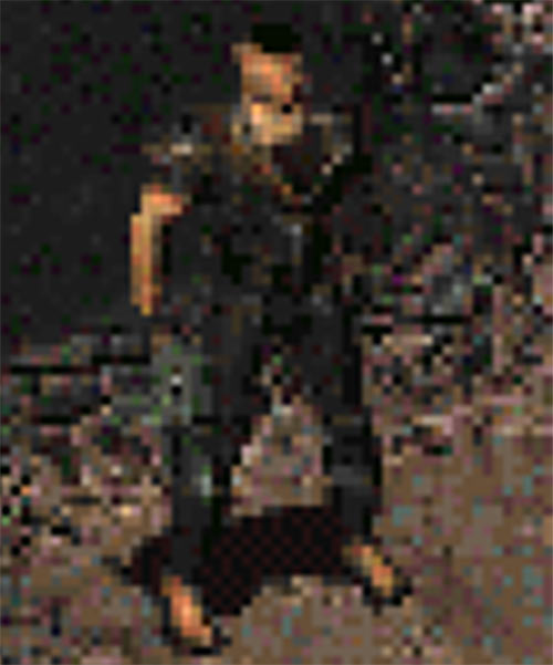 Fallout 2 sprite - Sulik in leather with SMG