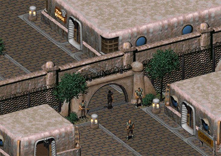 Fallout 2 - Vault City - Inner perimeter entrance