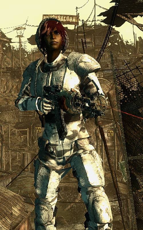 Fallout Lone Wanderer (Athena Griffin) Chinese assault rifle laser sight body armor