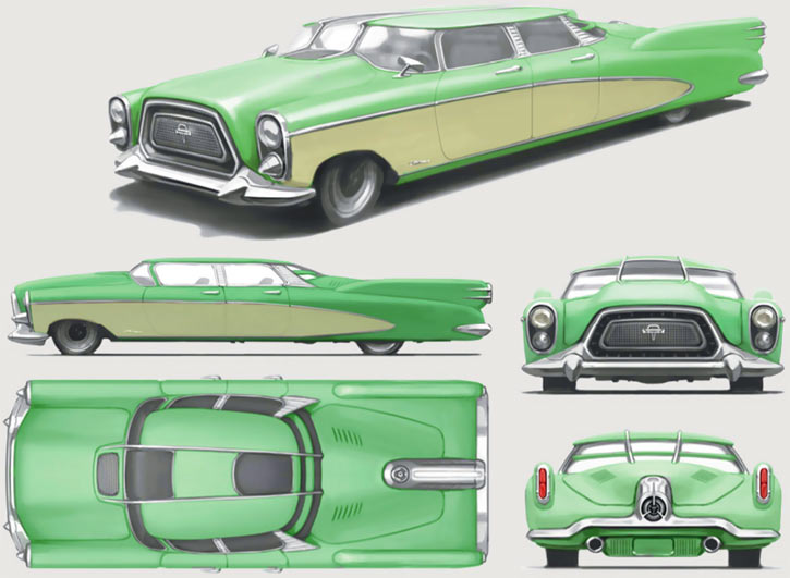 Chrylus Corvega car in Fallout 4 (concept art)