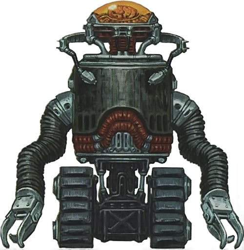 Fallout 3 robobrain concept art white background