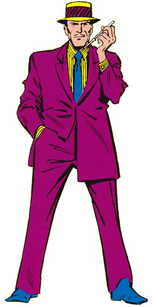 Fancy Dan of the Enforcers (Marvel Comics) in the 1980s handbooks