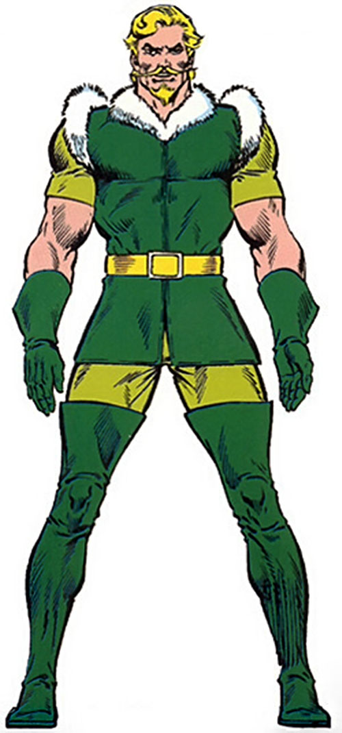 Fandral the Dashing (Thor ally) (Marvel Comics) from the master edition handbook