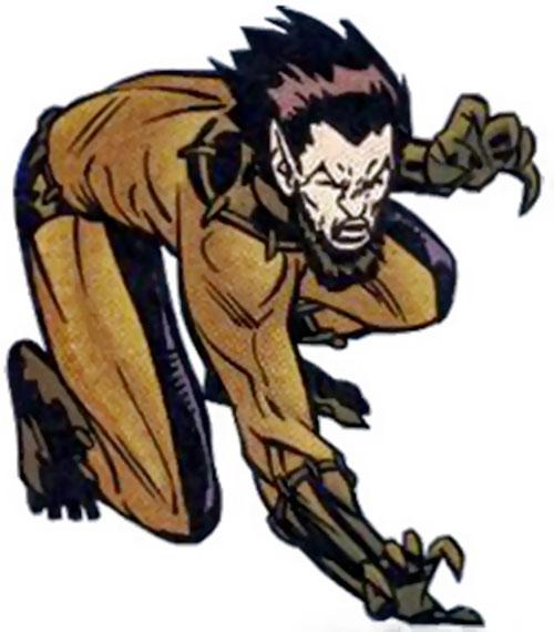 Fang (Shi'ar Imperial Guard) (X-Men) crouching
