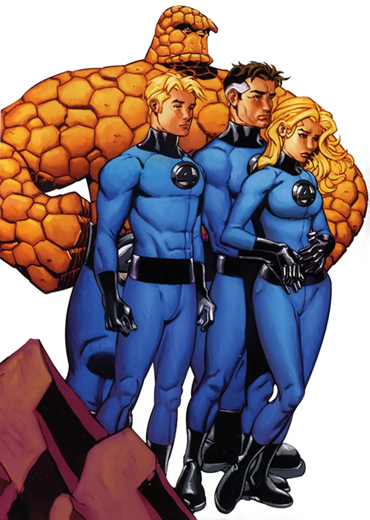 The Fantastic Four on white background