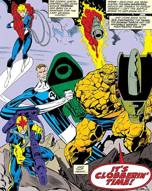 Fantastic Four - Marvel Comics - Nova - big guns