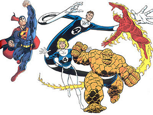 The Fantastic Four and Superman