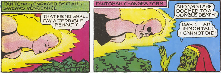Fantomah confronts Arco