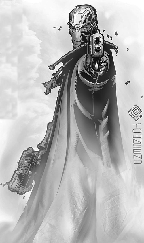 Fantomex (X-Men character) (Marvel Comics) in white mist by Townsend