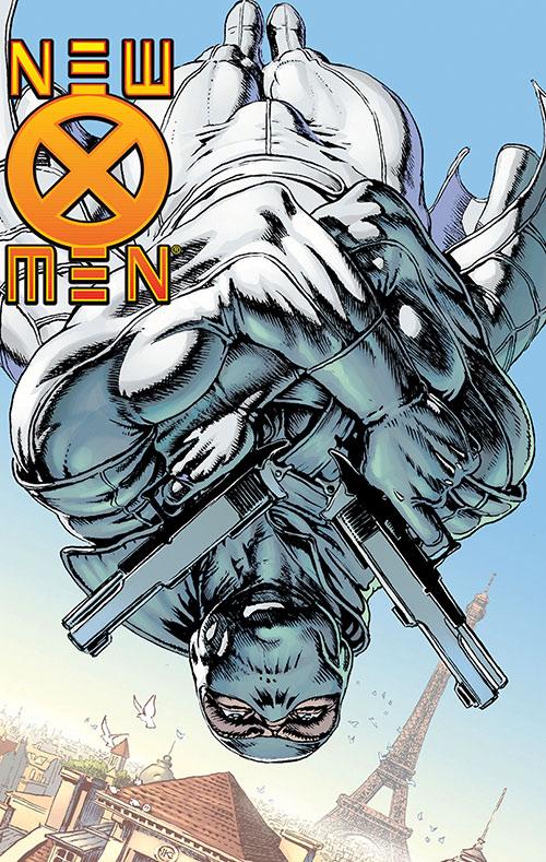 Fantomex (X-Men character) (Marvel Comics) above Paris