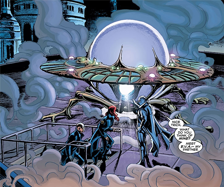 Fantomex's EVA flying saucer