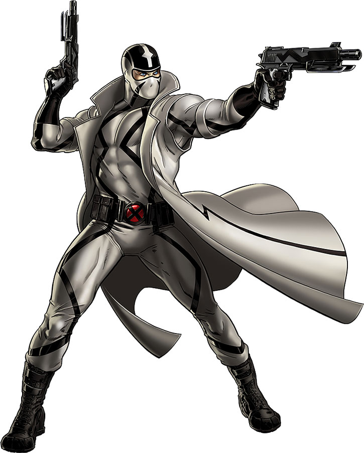 Fantomex on white background