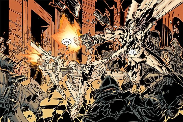 Fantomex vs. soldiers