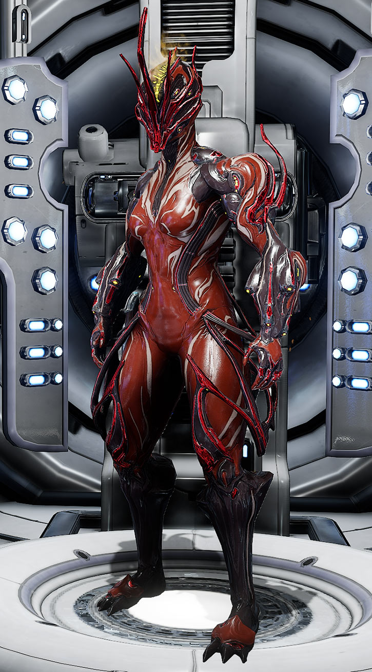 Warframe Nova Prime Fashion Frame : Featuring altered mod polarities for greater customization.