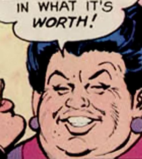 Fat Lady (Hostess Comics) face closeup