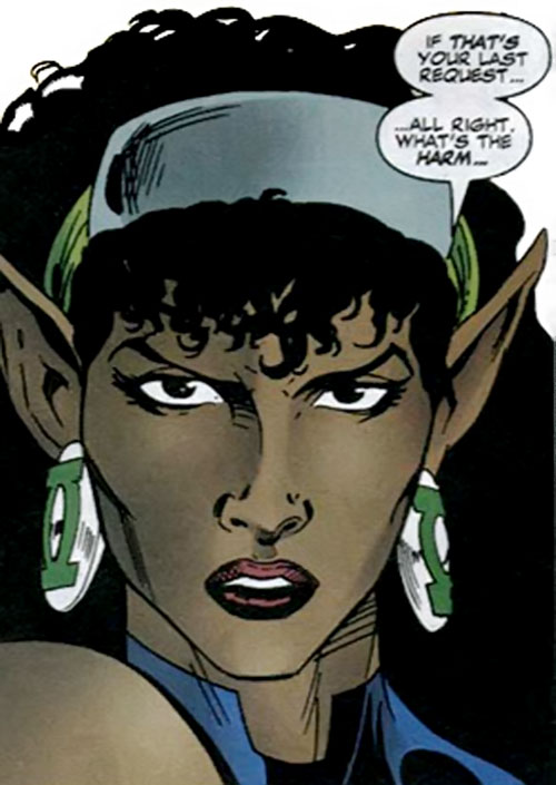 Fatality (Green Lantern enemy) (DC Comics) face closeup