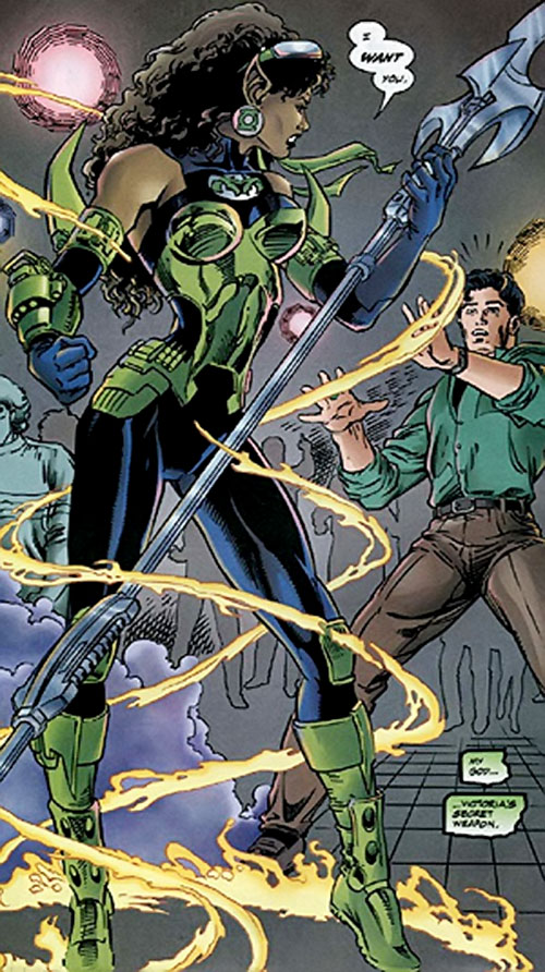 Fatality (Green Lantern enemy) (DC Comics) uncloaking