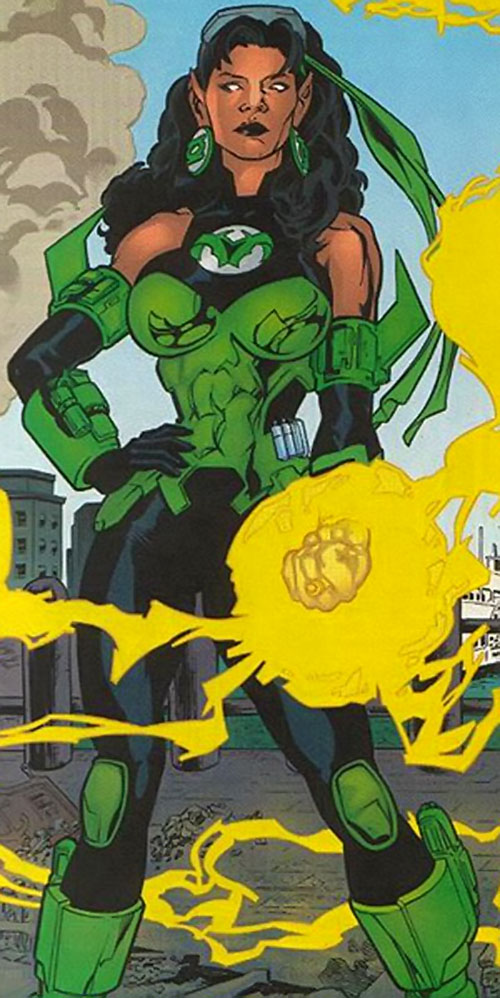 Fatality (Green Lantern enemy) (DC Comics) with a yellow ring