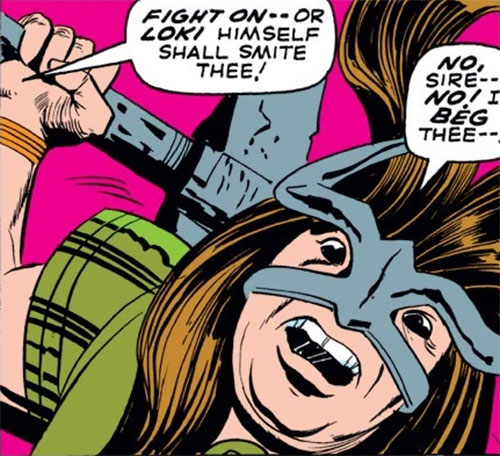 Troll female mercenary (Thor enemy) (Marvel Comics) face closeup