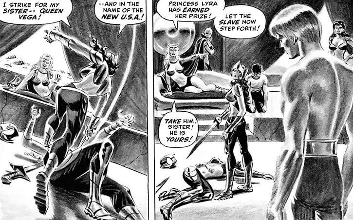 Femizonia (Marvel Comics) 1973 version - duel and queen