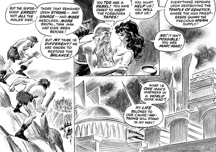 Femizonia (Marvel Comics) 1973 version - landscapes and dialogue