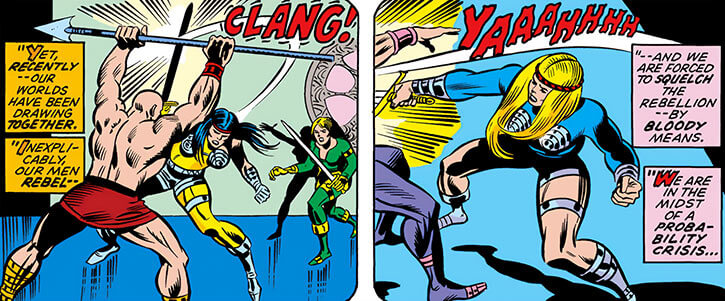 Femizonia (Marvel Comics) 1974 version - melee fighting