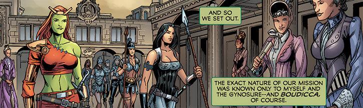 Femizonia (Marvel Comics) 2009 version - within the capitol