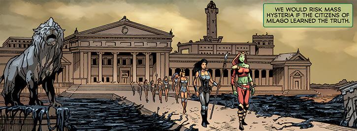 Femizonia (Marvel Comics) 2009 version - palace and moat