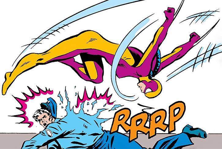 Fer-de-Lance (Serpent Society) attacks security guards