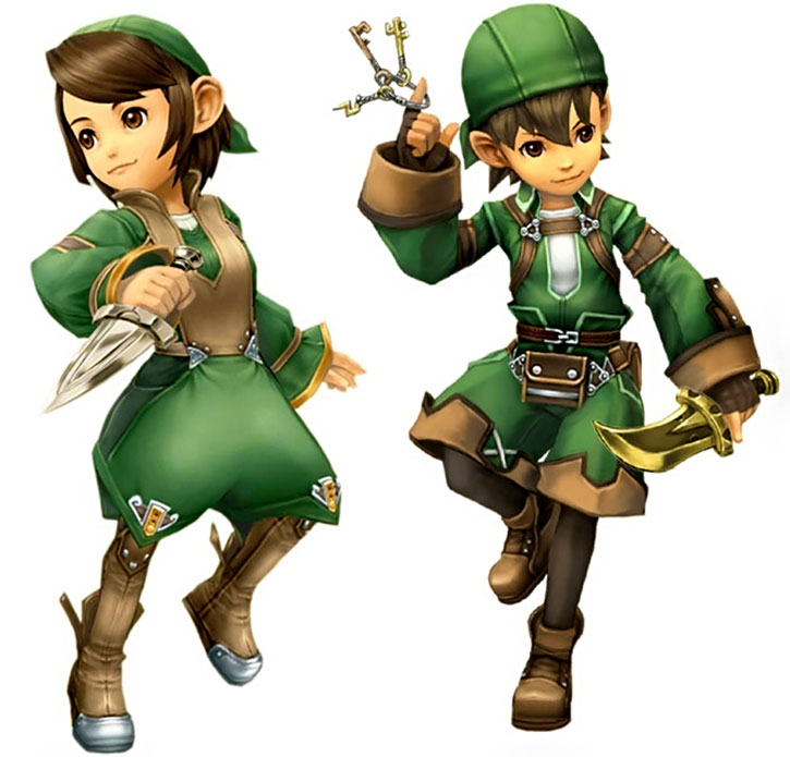 FInal fantasy gnomes in green