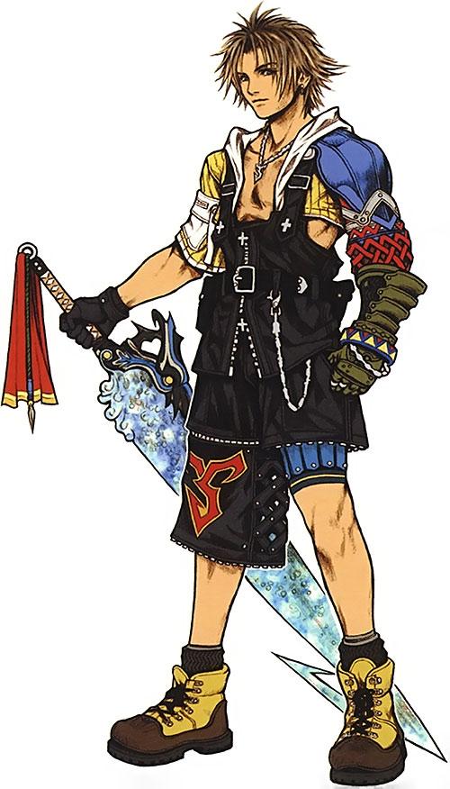 Tidus in Final Fantasy X