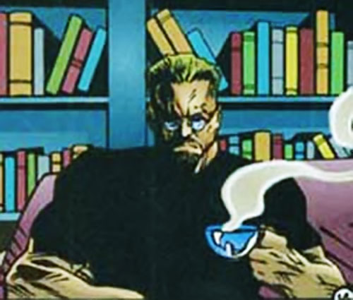 Firearm (Alec Swan) (Ultraverse Malibu comics) having a cuppa