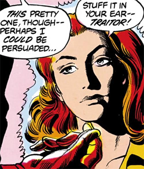 Firebrand (Danette Reilly) face closeup