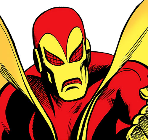 Firebug (pre-Crisis version) (DC Comics) mask closeup