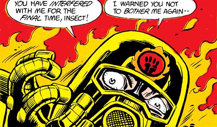 Firefist's helmet