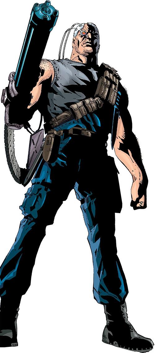 Firefox (Marvel Comics) with a minigun version of his arm gun