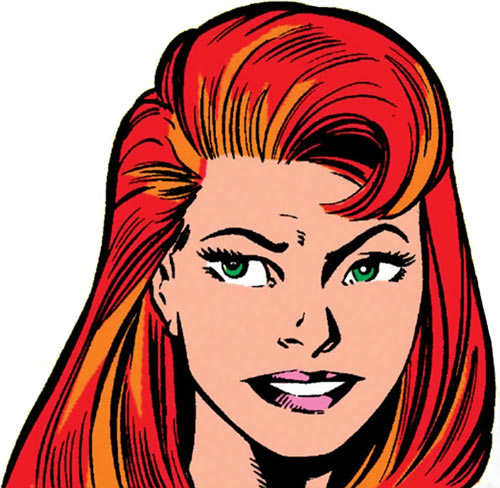 Firestar (Marvel Comics) (Avengers ; New Warriors) face closeup Mark Bagley